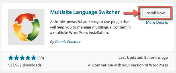 图:Multisite Language Switcher插件