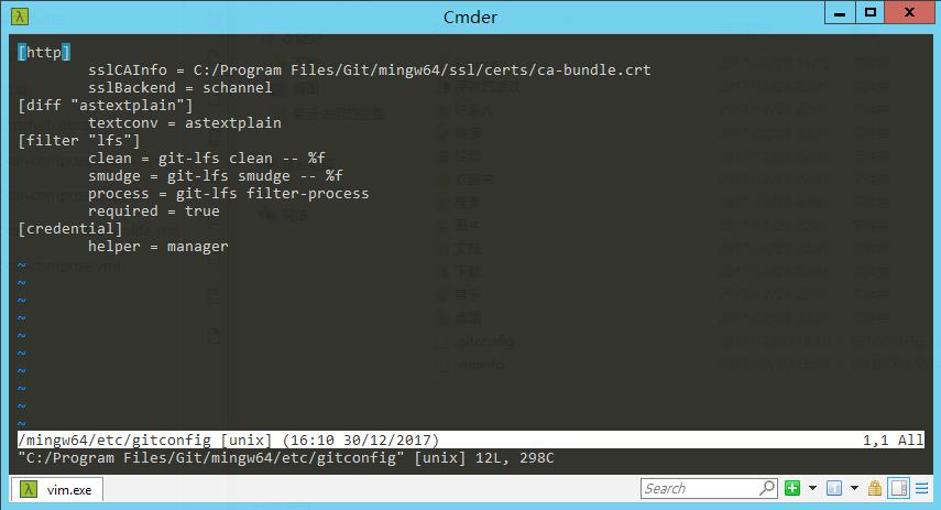 gitconfig-edit-system
